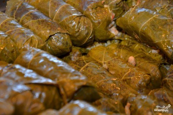 Крам (фаршированные виноградные листья)