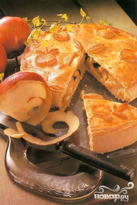 Яблочно-сырный пирог