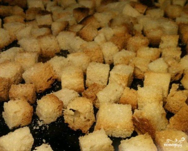 Домашние сухарики в духовке