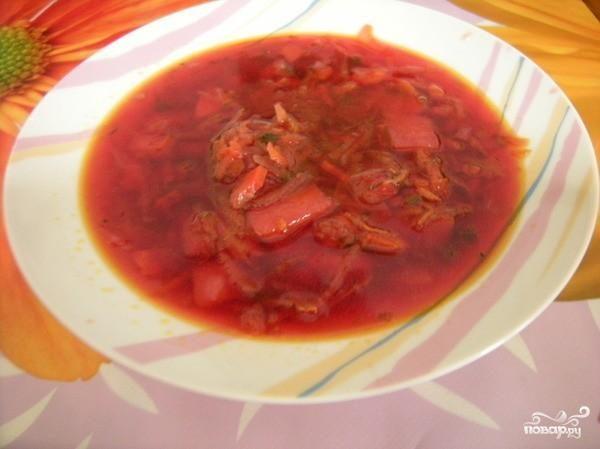 вкусный борщ из свинины рецепт пошаговый