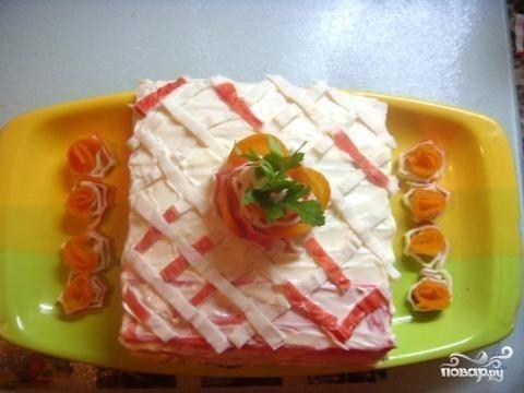 Крабовый торт