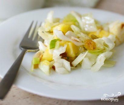 Капуста с ананасом