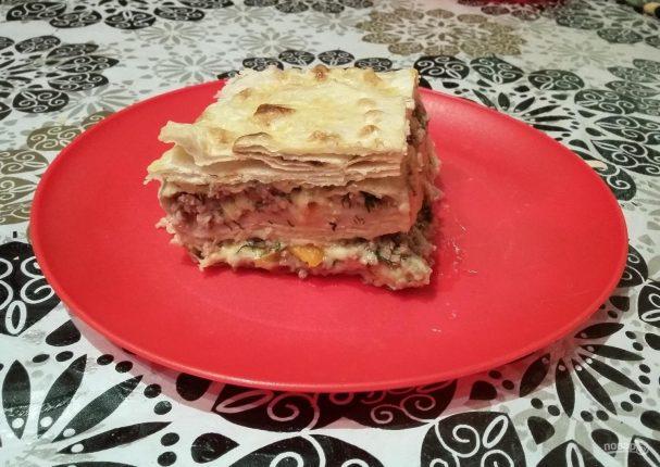 Яично-мясной тортик со вкусом шавермы