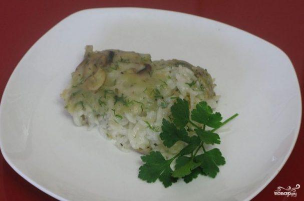 Рис, запеченный с грибами