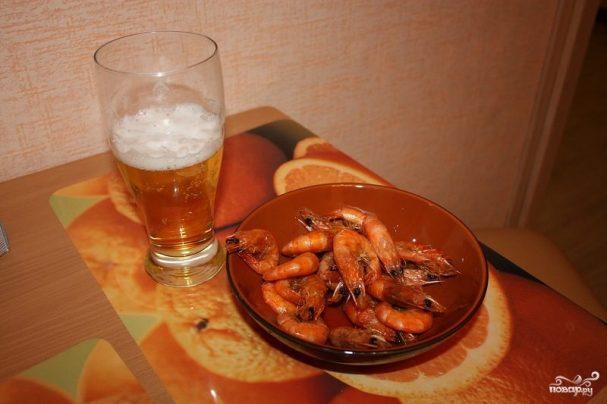 Креветки жареные в панцире