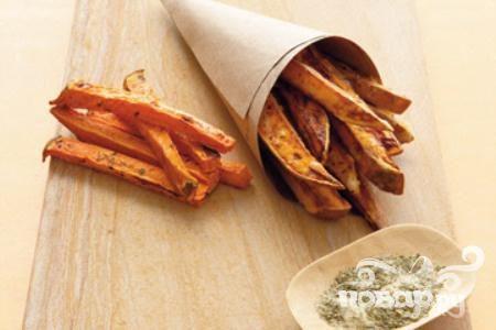 Палочки из сладкого картофеля