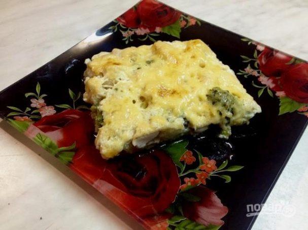 Запеканка из цветной капусты, брокколи и куриной грудки