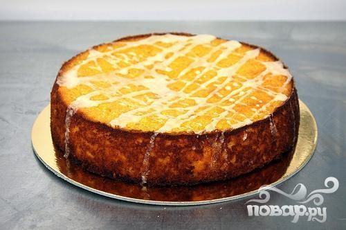 Пирог с клементинами и миндалем