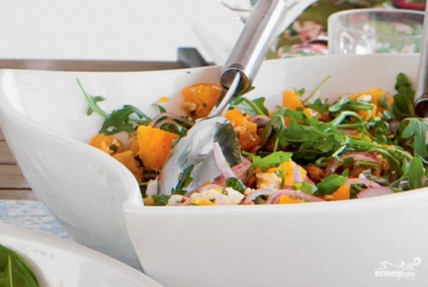Салат из индейки с апельсинами