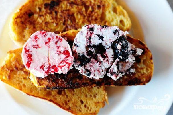 Французские тосты с ягодным маслом