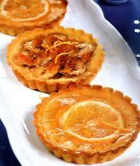 Мини-тарталетки с лимонами и апельсинами