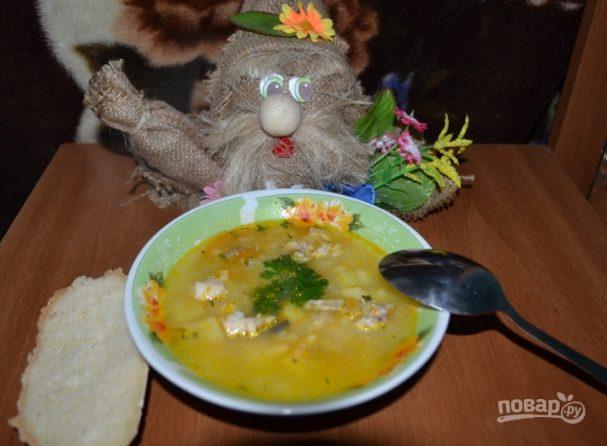 Суп рыбный из горбуши консервы