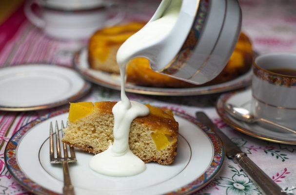 Пирог с манго и ванилью