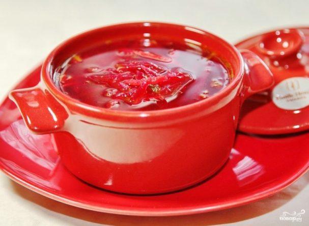 рецепт горячего супа свекольника с мясом