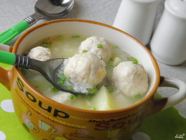 суп с фрикадельками из куриного фарша пошаговый рецепт с фото