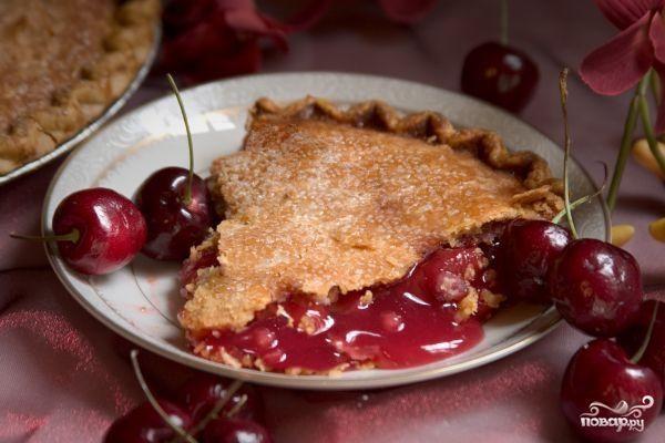 Постный вишневый пирог