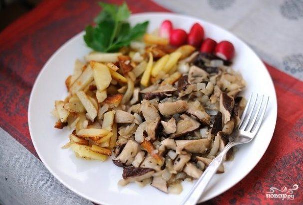 Картошка с белыми грибами