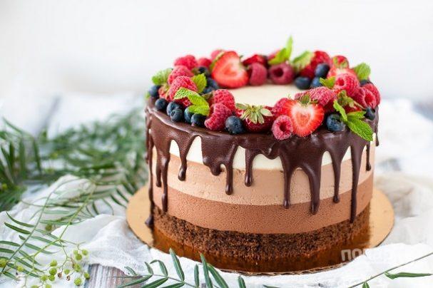 """Торт """"3 шоколада"""""""
