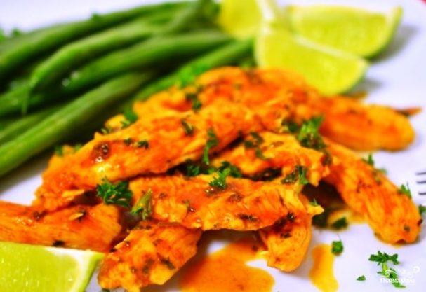 Жареное куриное филе