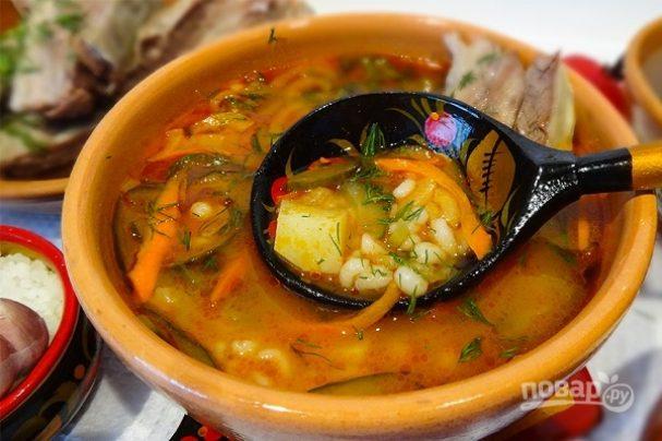 Рассольник (наваристый суп)
