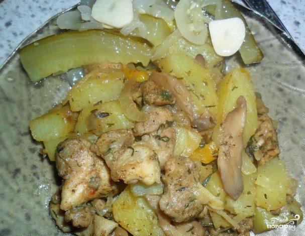 Картошка с курицей в пароварке