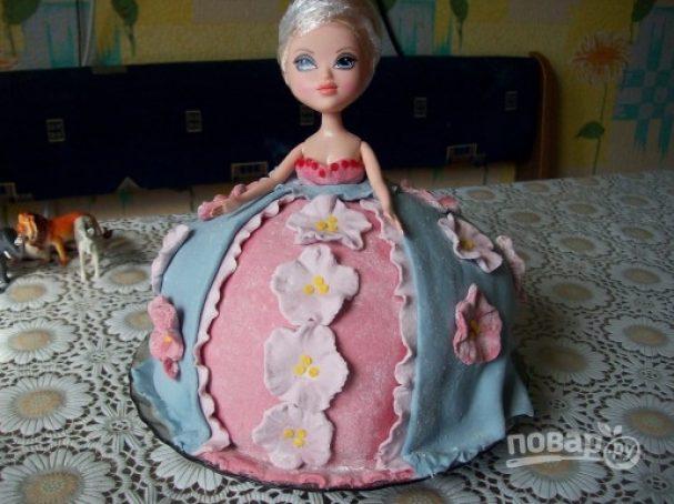 """Торт """"Кукла"""" мастер-класс"""