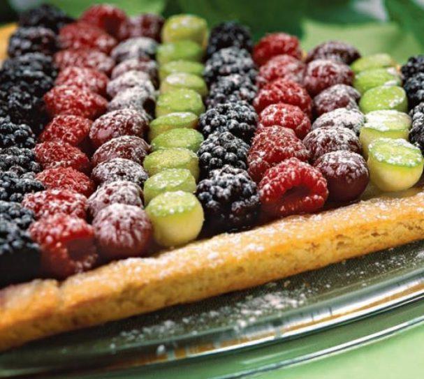 Пирог ягодный полосатый