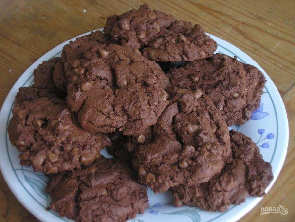 Шоколадное печенье простое