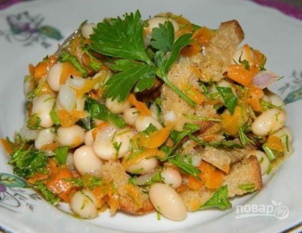 Салат из белой фасоли консервированной