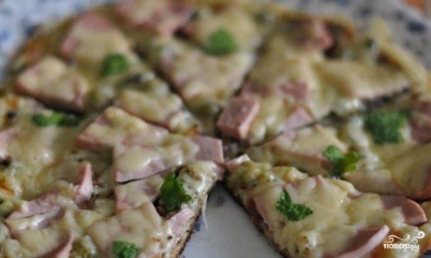 """Пицца """"Минутка"""" на сковороде"""