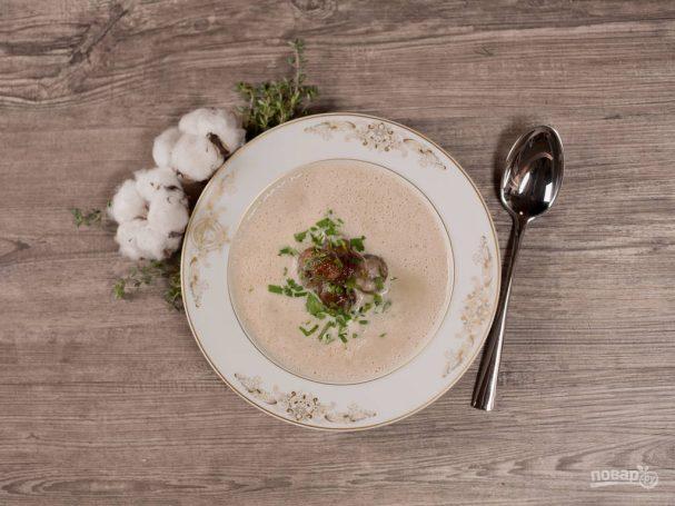 Французский суп с каштанами