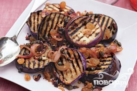 Жареные баклажаны с маслинами и каперсами