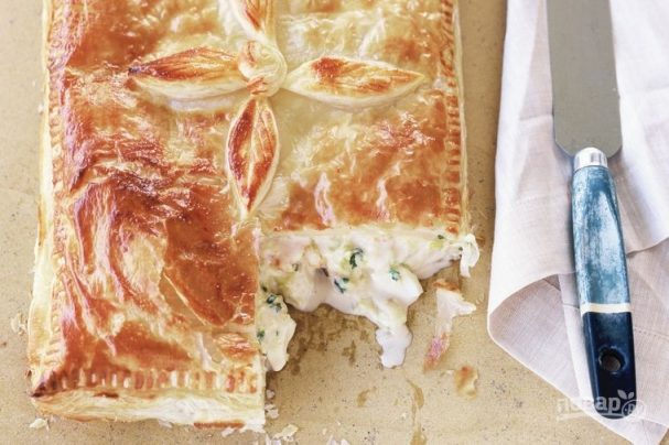 Пирог с треской