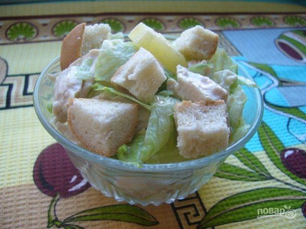 Салат курица айсберг рецепт с фото
