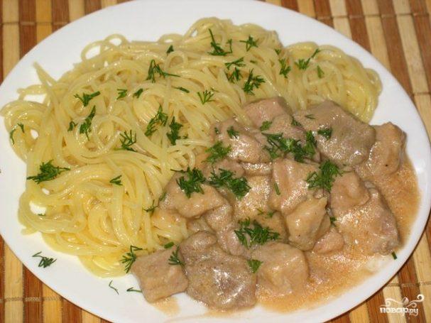 мясо со сливками гуляш рецепт