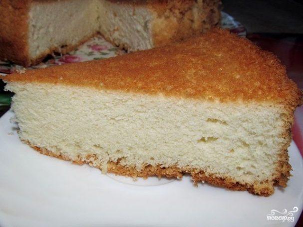 Простое бисквитное тесто для торта