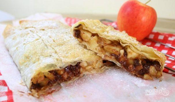 теста из яблочный фило рецепт готового Штрудель