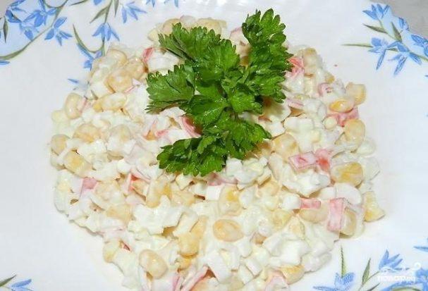 салат крабовый рецепт с горошек