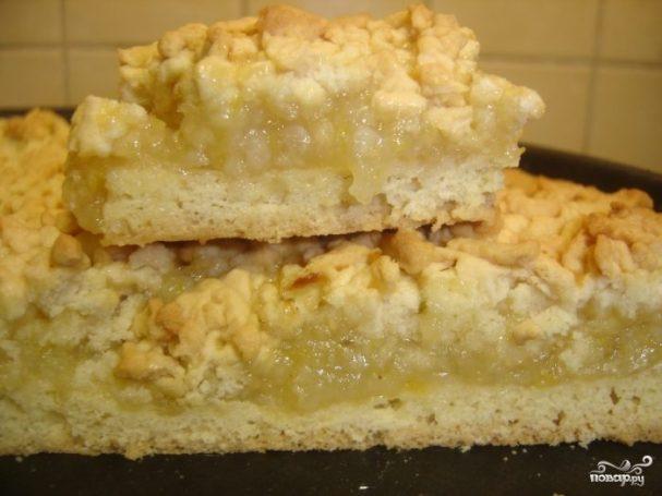 Тертый пирог с лимоном