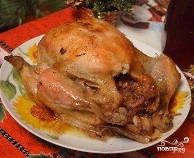 Курица, фаршированая гранатом и сыром