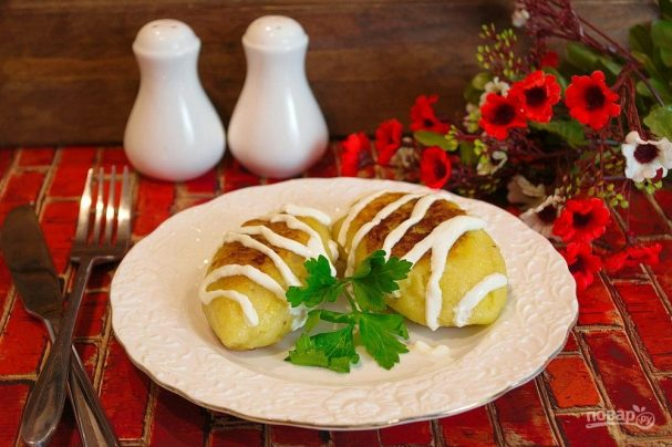 Зразы картофельные с мясом