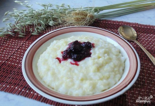 Молочная каша из риса и пшена