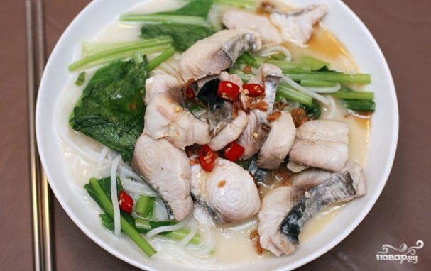 рецепт рыбного супа с лапшой