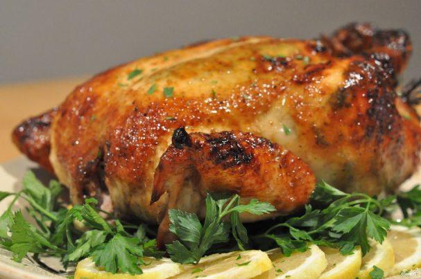 Курица в майонезе с чесноком
