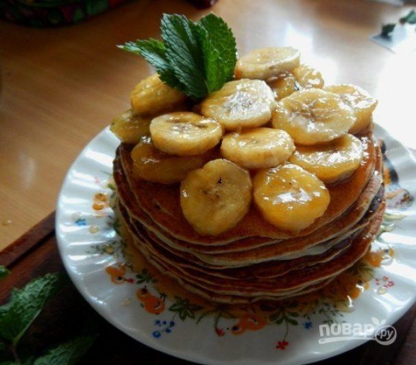 Оладьи с бананом на кефире