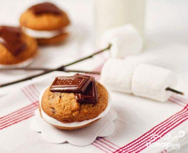 Печенье с шоколадом и маршмэллоу