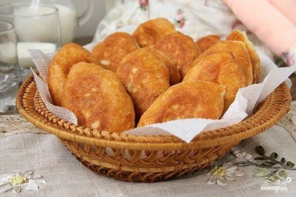 тесто без дрожжей для пирожков жареных на сковороде