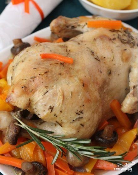 пошаговый рецепт с фото курицы в духовке в рукаве