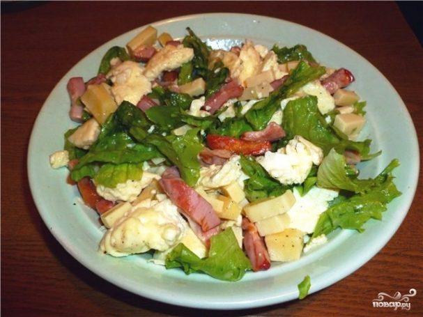 Салат с омлетом