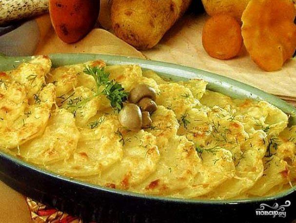 Запеканка с картофелем и грибами